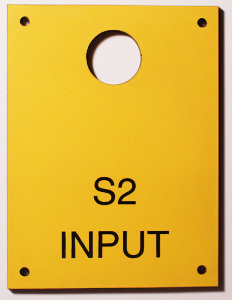 Electrical panel tags engraved plastic plates tags id for Electrical panel tags