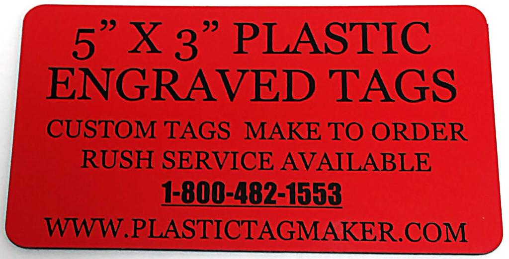 Plastic Namebadges Engraved Plastic