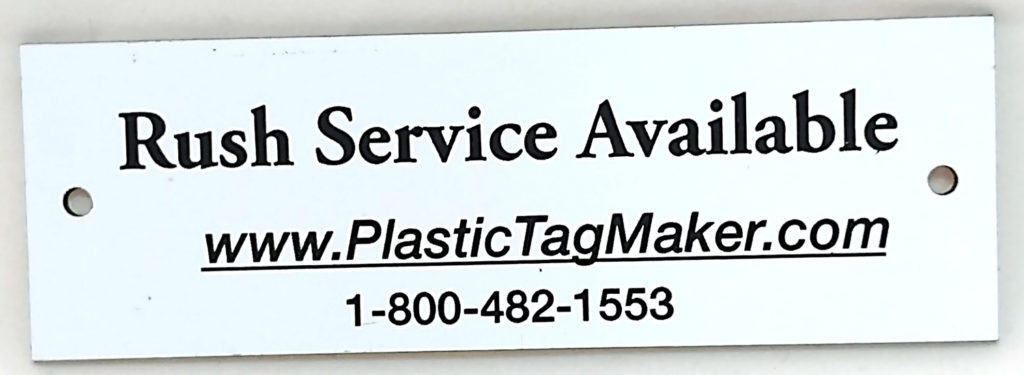 Plastic Engraved Plates