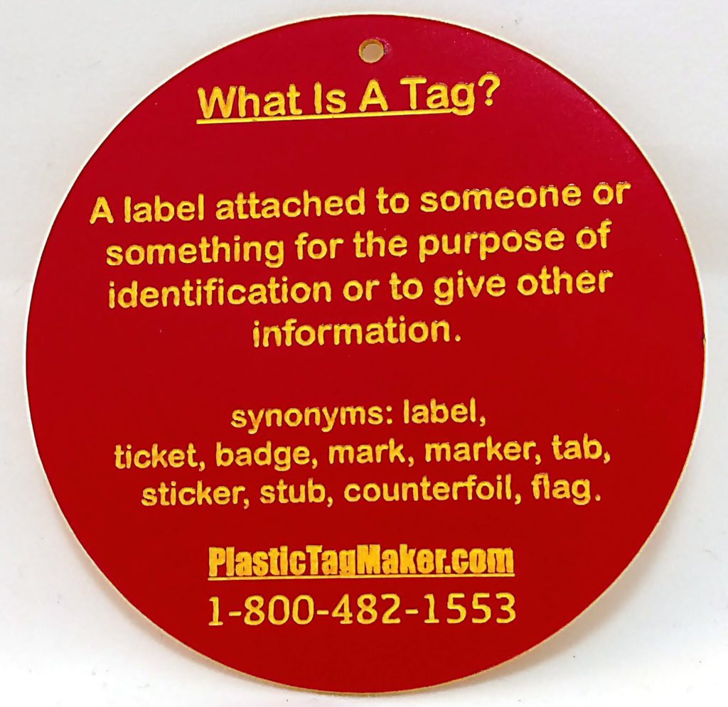 CUSTOM PLASTIC TAGS